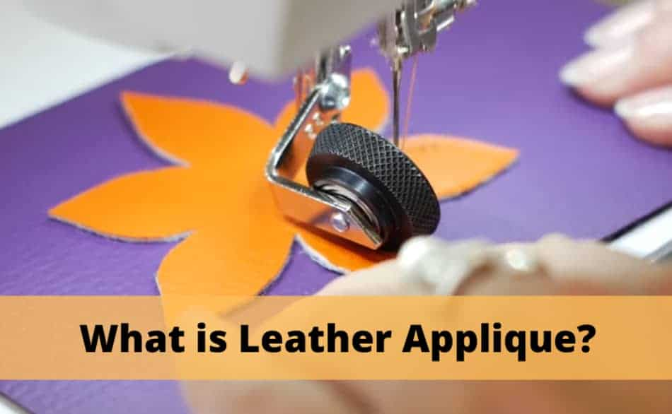 what is leather applique