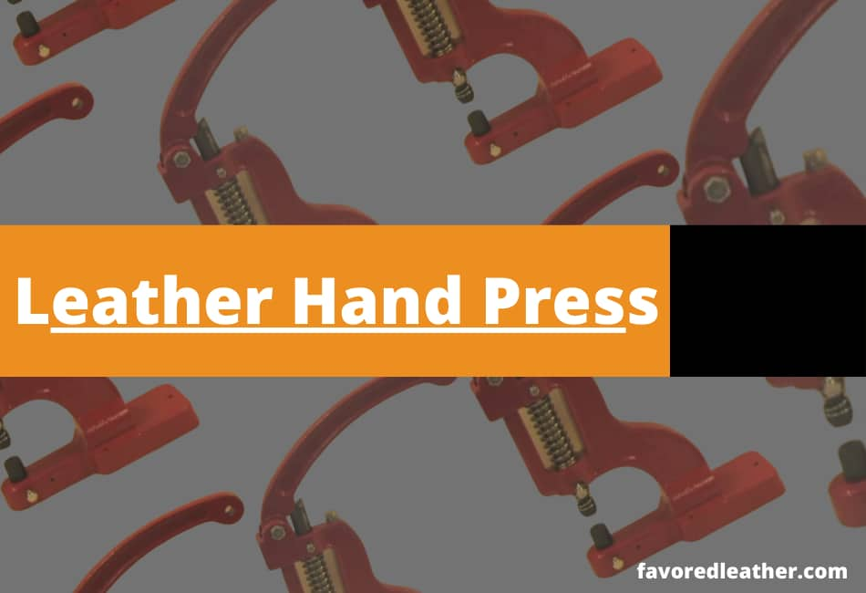 leather hand press