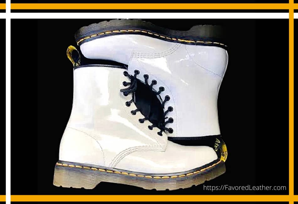 White Patent Leather Yellow