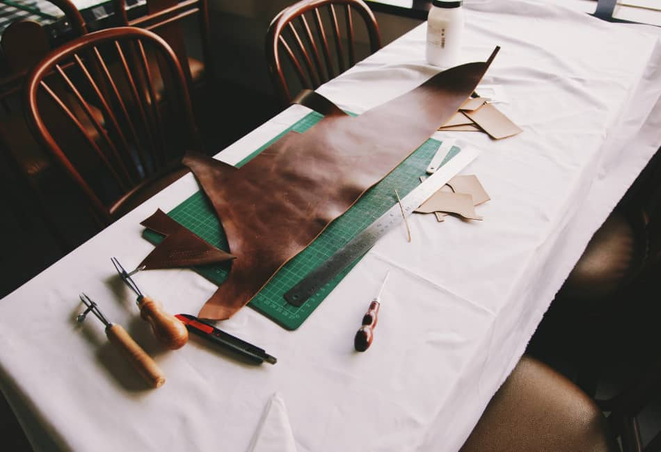 how to thin leather without a skiver
